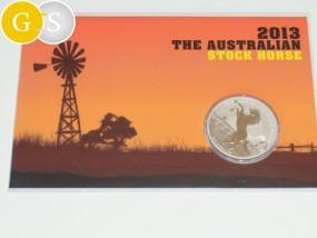 1 Unze Silber The Australian Stock Horse im Blister - Australien 2013