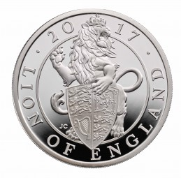 1 Oz Silber Proof Queens Beasts Lion of England Löwe 2 £ United Kingdom 2017