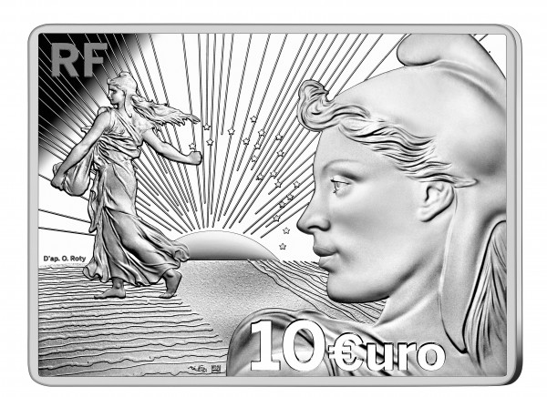 10 Euro Silber Proof Sower - Säerin - 20 years of the starter kit Frankreich 2021