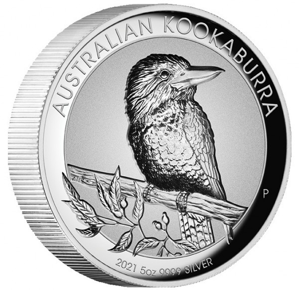 Australian Kookaburra Incused 5 Ounce Silver Proof Australia 2021
