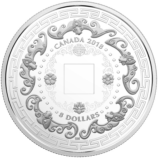 8 Dollar Silver Proof Good Luck Charms - Five Blessings Canada 2018