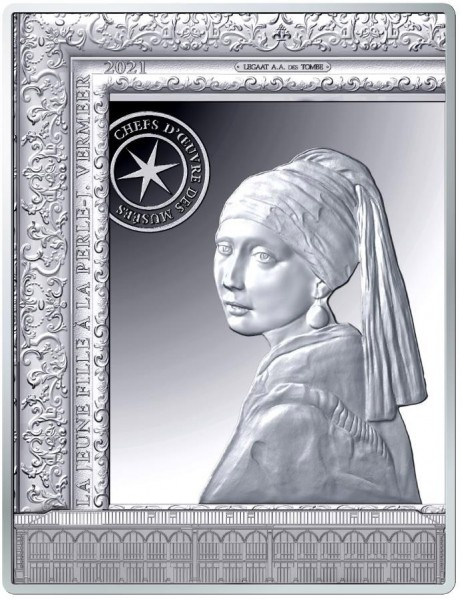 Girl with a Pearl Earring - Masterpieces of Museums - 10 Euro Silver Proof France 2021