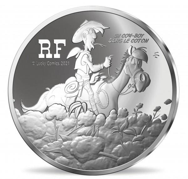 10 Euro Silber Proof Lucky Luke - 75 Jahre - Frankreich 2021