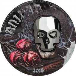 1 Unze Silber Proof Crystal Skull – Vanity 1000 Francos CFA Equatorial Guinea 2018