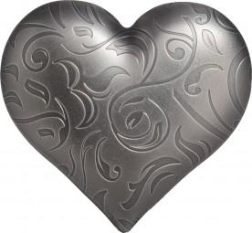 1 Unze Silber Antique Finish Heart Herz 5$ Dollar Palau 2018