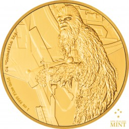 250 $ 1 Oz Gold Proof Star Wars Classic: Chewbacca™ Niue 2017