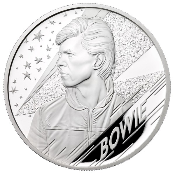 5 Ounce Silver Proof Music Legends - David Bowie - 10 £ United Kingdom 2020