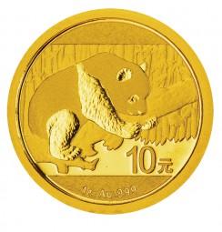 1 Gramm Gold BU Panda 10 Yuan China 2016