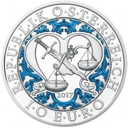 10 Euro Silber Proof Erzengel Michael - Der Schutzengel - Himmlische Boten Österreich 2017