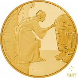 250 $ 1 Oz Gold Proof Star Wars Classic: Princess Leia Organa™ Niue 2016