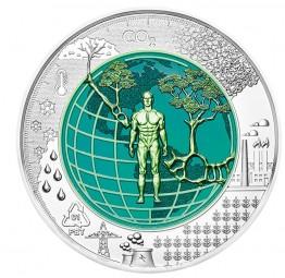 25 Euro Silber Niob HgH Anthropozän Österreich 2018