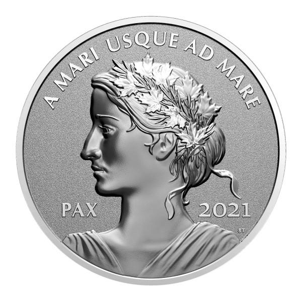Peace Dollar Silber Reverse Proof Kanada 2021 A MARI USQUE AD MARE