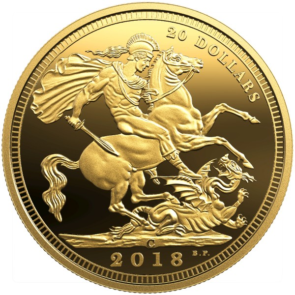 20 Dollar 1 Oz Silber Proof gilded The 1908 Sovereign - 110th Anniversary of the RCM Kanada 2018