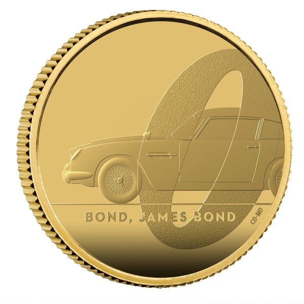 1/4 Oz Gold Proof Bond, James Bond 25 £ Pounds United Kingdom 2020