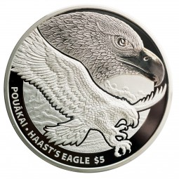 1 Unze Silber Proof Haast's Eagle New Zealand Neuseeland 2016