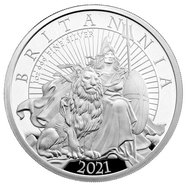 1 Ounce Silver Proof The Britannia 2 £ Pound United Kingdom 2021