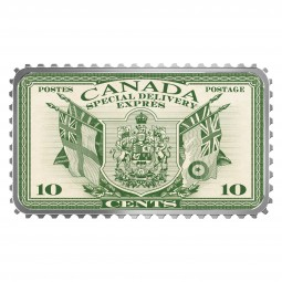 20 Dollar 1 Oz Silber Proof Canada's Historical Stamps: Coat of Arms and Flags Special Delivery Kana