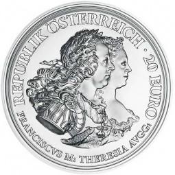 20 Euro Silber Proof Maria Theresia - Gerechtigkeit und Härte Österreich 2017