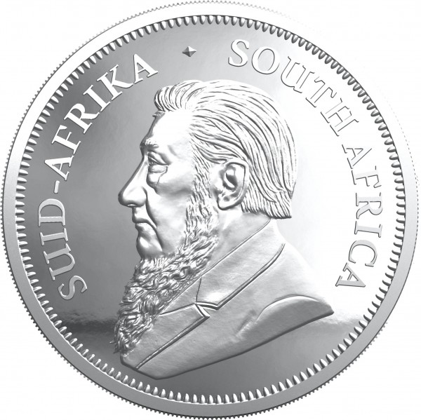 Krugerrand 2 Ounce Silver Proof South Africa 2021