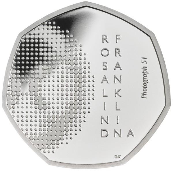 50 Pence Silver Proof Rosalind Franklin United Kingdom 2020 Royal Mint