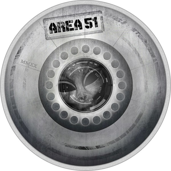 2 Ounces Silver Proof Great Conspiracies – Area 51 - 10$ Dollar Palau 2020