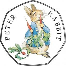 50 Pence Silber Proof Beatrix Potter - Peter Rabbit™ United Kingdom 2018 Royal Mint