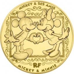 200 Euro 1 Unze Gold Proof Mickey and friends - Mickey & Minnie Frankreich 2018