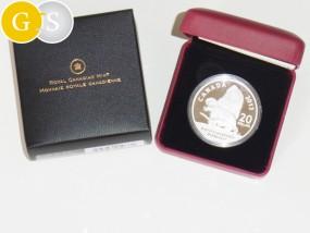 20 Dollar Silber Proof Canadian Dinosaurs - Bathygnathus Borealis - Kanada 2013