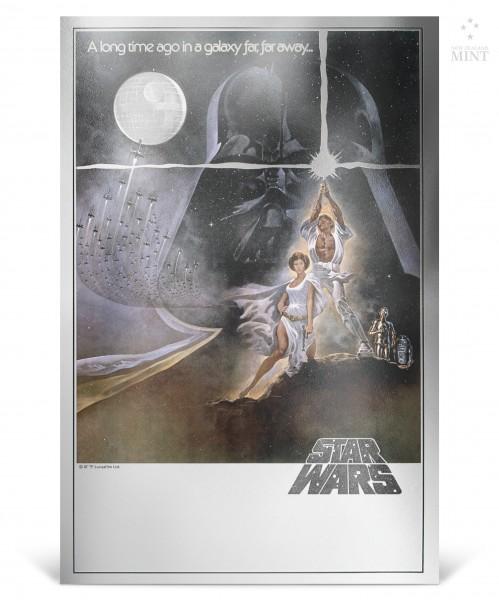 Star Wars Premium Silver Foil BU - A New Hope - 2018 Niue