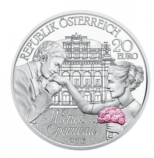 20 Euro Silber Proof Wiener Opernball österreich 2016 Gs