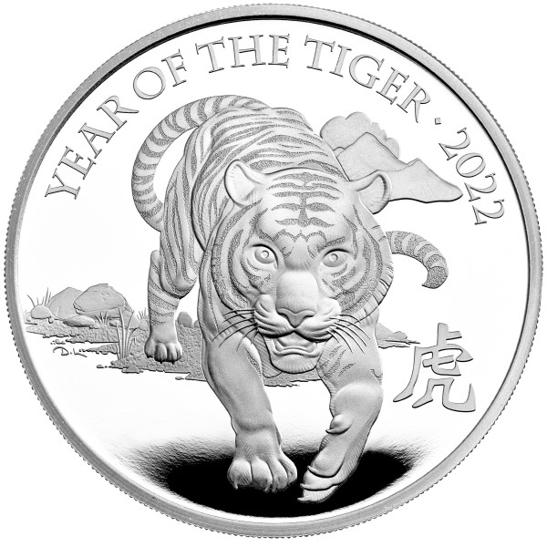 Year of the Tiger Lunar - 1 Ounce Silver Proof 2 £ United Kingdom 2022