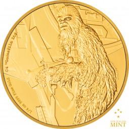 25 $ 1/4 Oz Gold Proof Star Wars Classic: Chewbacca™ Niue 2017