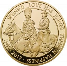 5 £ Pfund Gold Proof Platinhochzeit United Kingdom 2017