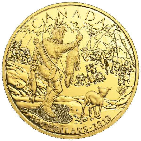 200 Dollar Gold Proof Early Canadian History: First Nations Kanada 2018