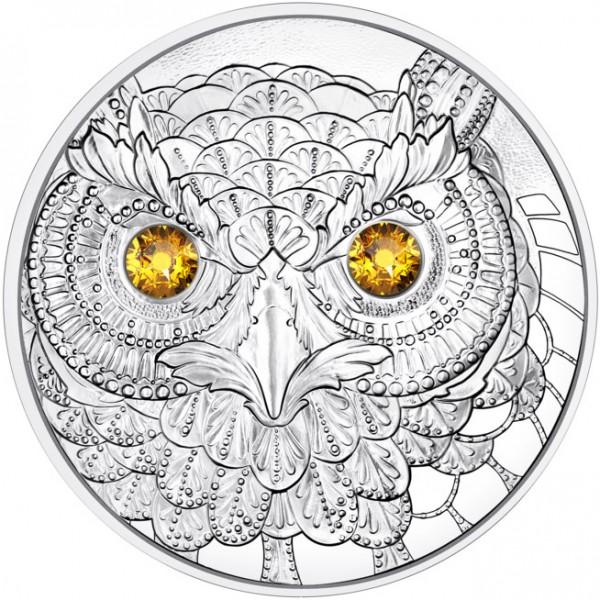 Owl - Europe - Eyes of the World 20 Euro Silver Proof Austria 2021