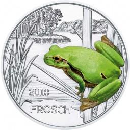 3 Euro Tier Taler hgh Der Frosch Österreich 2018 Austria leuchtet im Dunkeln
