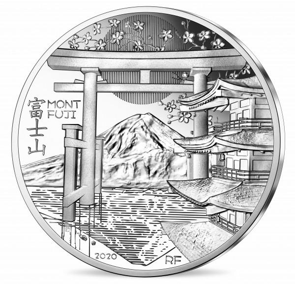 10 Euro Silver Proof Unesco - Mount Fuji France 2020