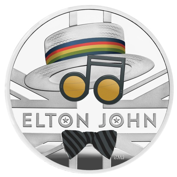 1 Unze Silber Proof Music Legends - Elton John - 2 £ United Kingdom 2020