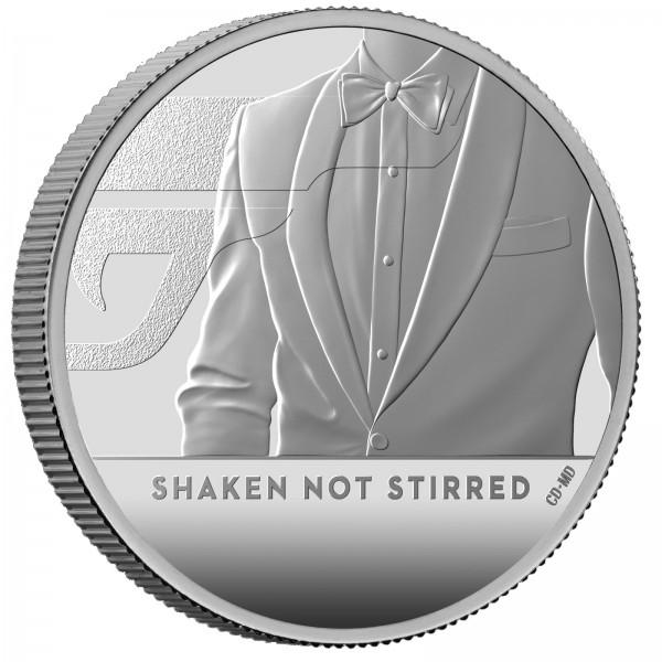 1 Ounce Silver Proof James Bond - Shaken, not stirred - 2 £ United Kingdom 2020