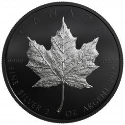 2 Oz Matte Proof Silber 30 Jahre Maple Leaf 10 CAD Kanada 2019 Canada