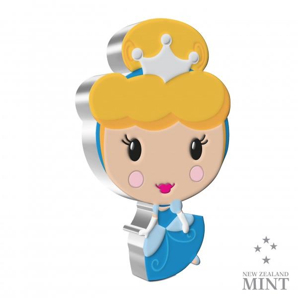 Cinderella - Disney Princess Chibi ® Series - 1 Unze Silber Proof 2$ Niue 2021