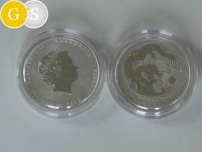 1/2 Unze Silber Lunar II Drache - Australien 2012