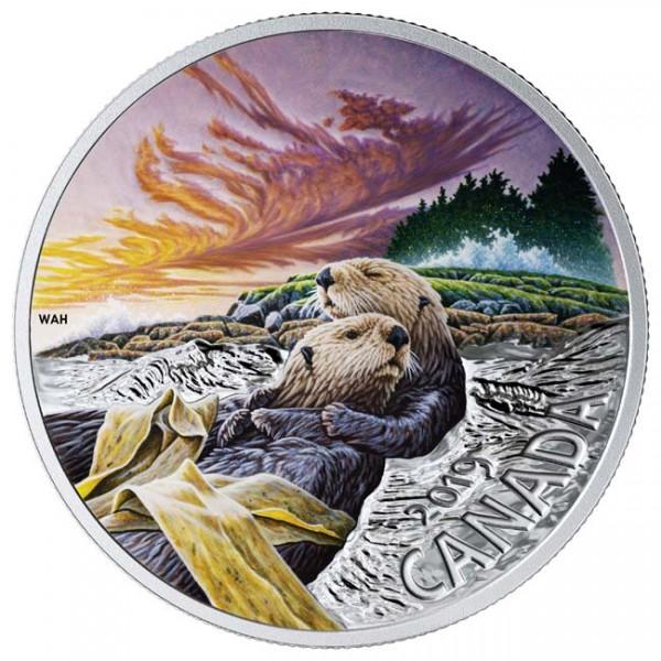 20 Dollar 1 Ounce Silver Proof Canadian Fauna: The Sea Otter Canada 2019