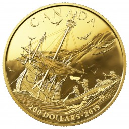 200 Dollar Gold Proof Early Canadian History: Arrival of the Europeans Kanada 2019