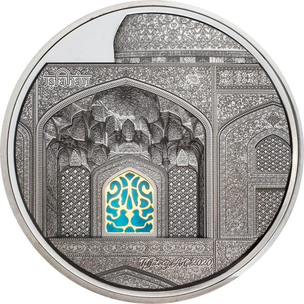 5 Unzen Oz Silber Black Proof Tiffany Art Isfahan 25$ Dollar Palau 2020