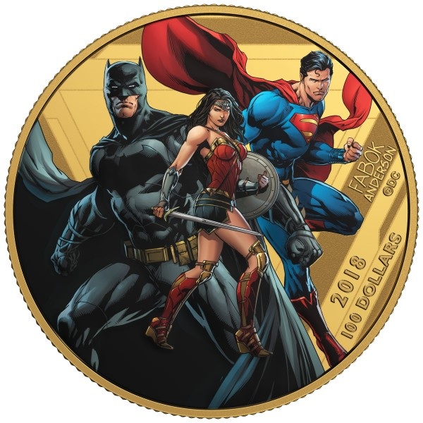 100 Dollar Gold Proof Justice League - united we stand Kanada 2018 Canada