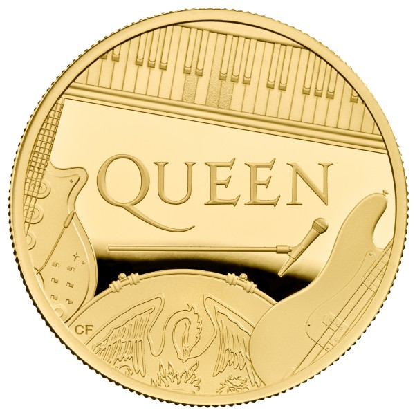 1 Ounce Gold Proof Music Legends - Queen - 100 £ Pounds United Kingdom 2020