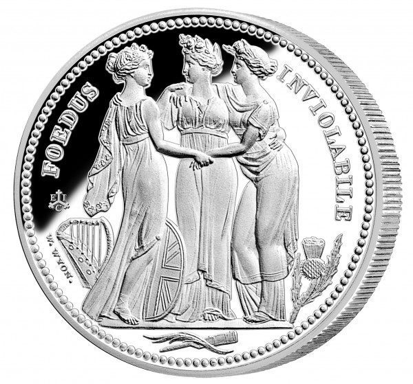 The Three Graces Masterpiece 1 Ounce Silver Proof - 1 £ St. Helena 2021