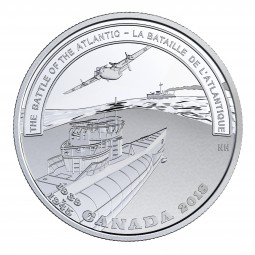 20 Dollar Silber Proof Second World War - The Battle of the Atlantic Kanada 2018 Canada