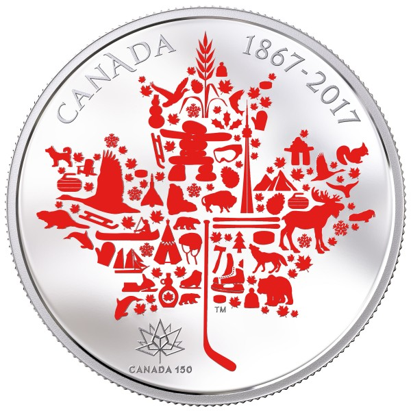 5 Ounce Silver Proof Canadian Icons 50 CAD Canada 2017